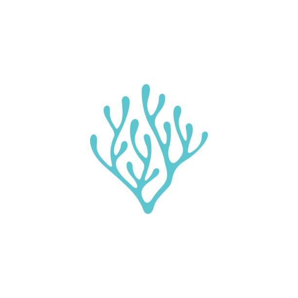 neuron / algen mit herz-design-inspiration - algen stock-grafiken, -clipart, -cartoons und -symbole