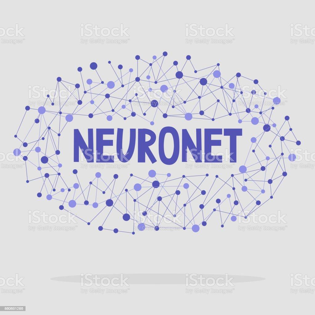ニューロ ネット株式会社概念図フラット編集可能なベクター クリップ