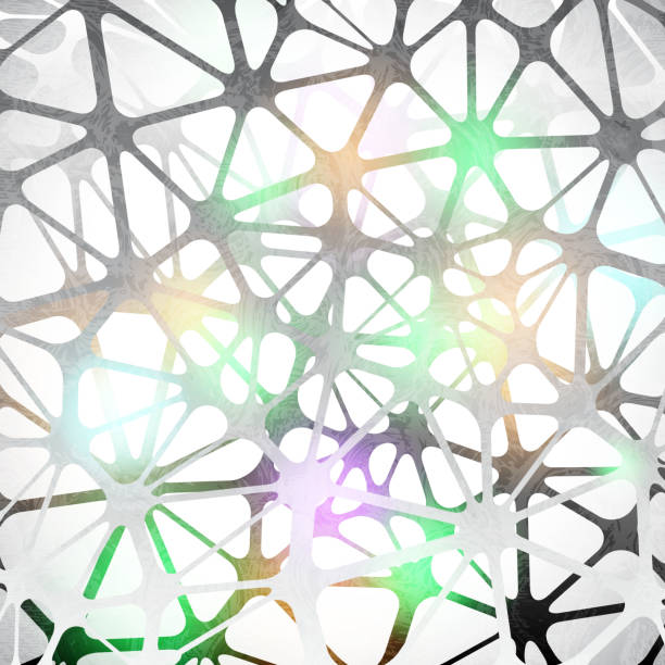 Neurons cells - network of neurons cells medical illustration. Artificial neural network technology science medicine cloud computing. AI 3D abstract biology system. Vector background. Neurons cells - network of neurons cells medical illustration. Artificial neural network technology science medicine cloud computing. AI 3D abstract biology system. Vector background. neural axon stock illustrations
