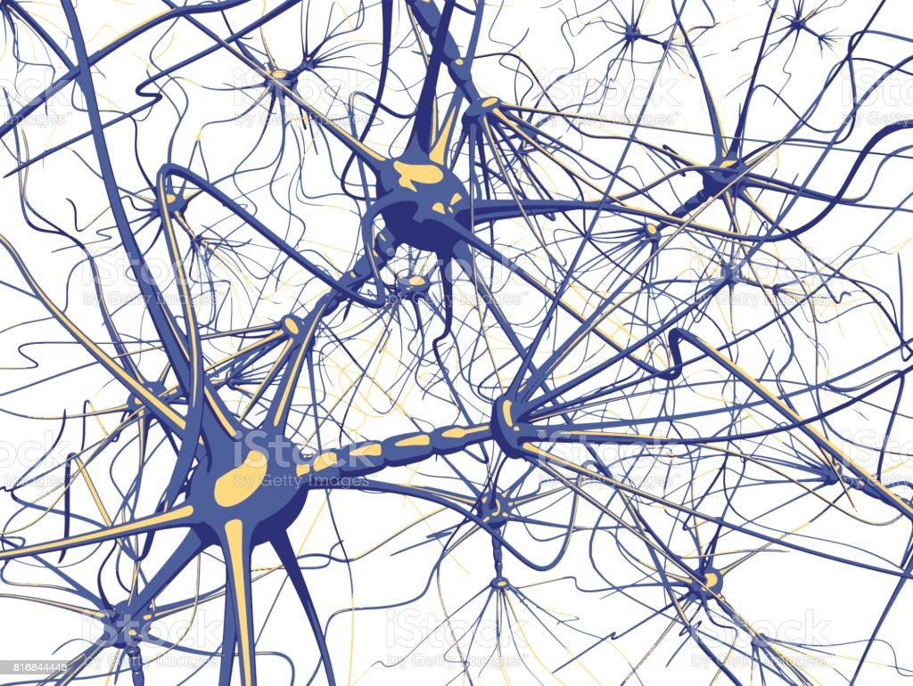 Neurons cells royalty-free neurons cells stock illustration - download image now