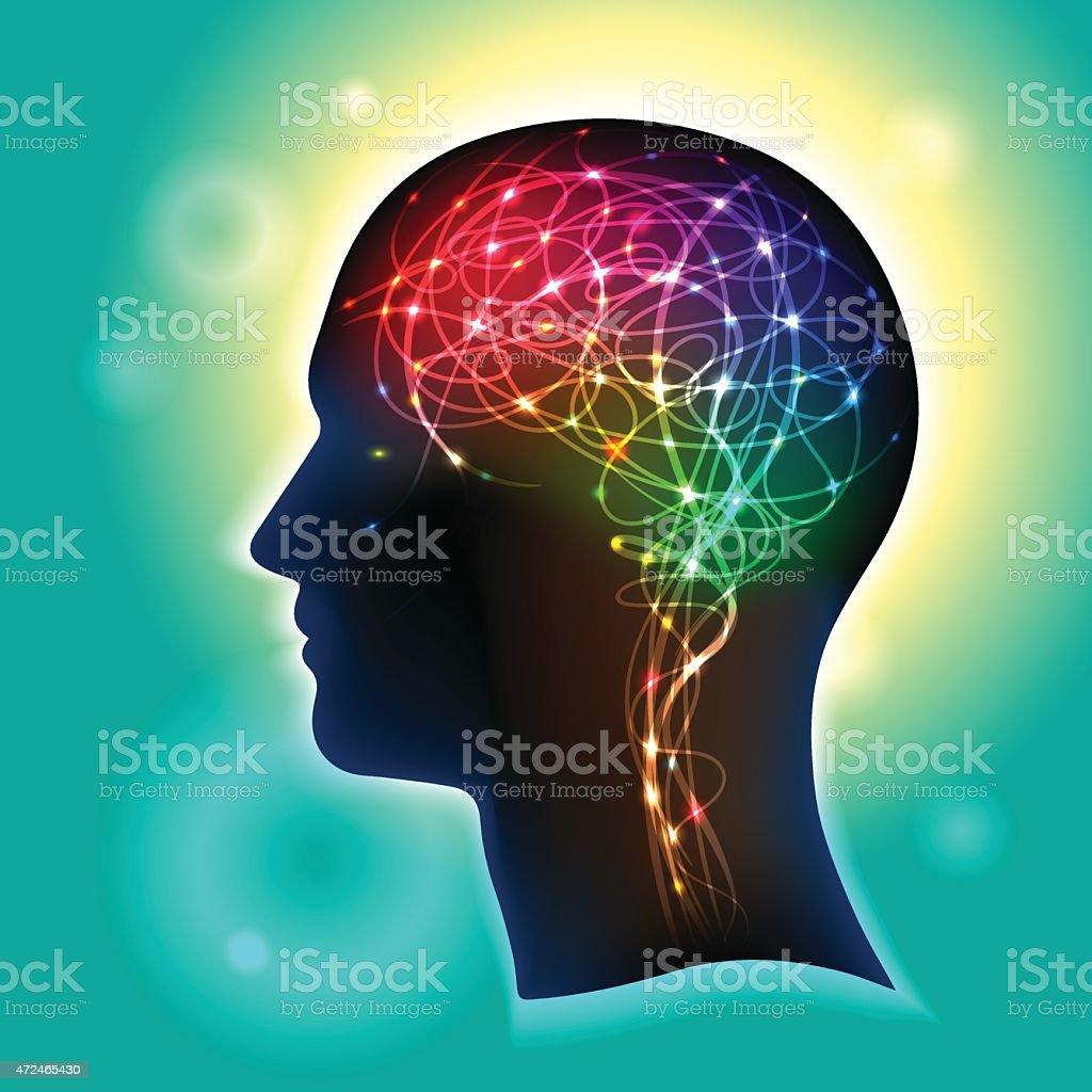 Neurons in the Brain vector art illustration