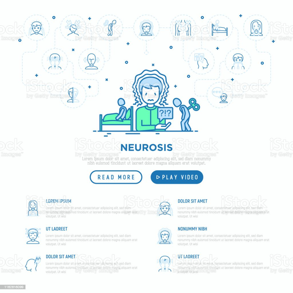 man feeling panic attack, fatigue and insomnia. Vector illustration,...