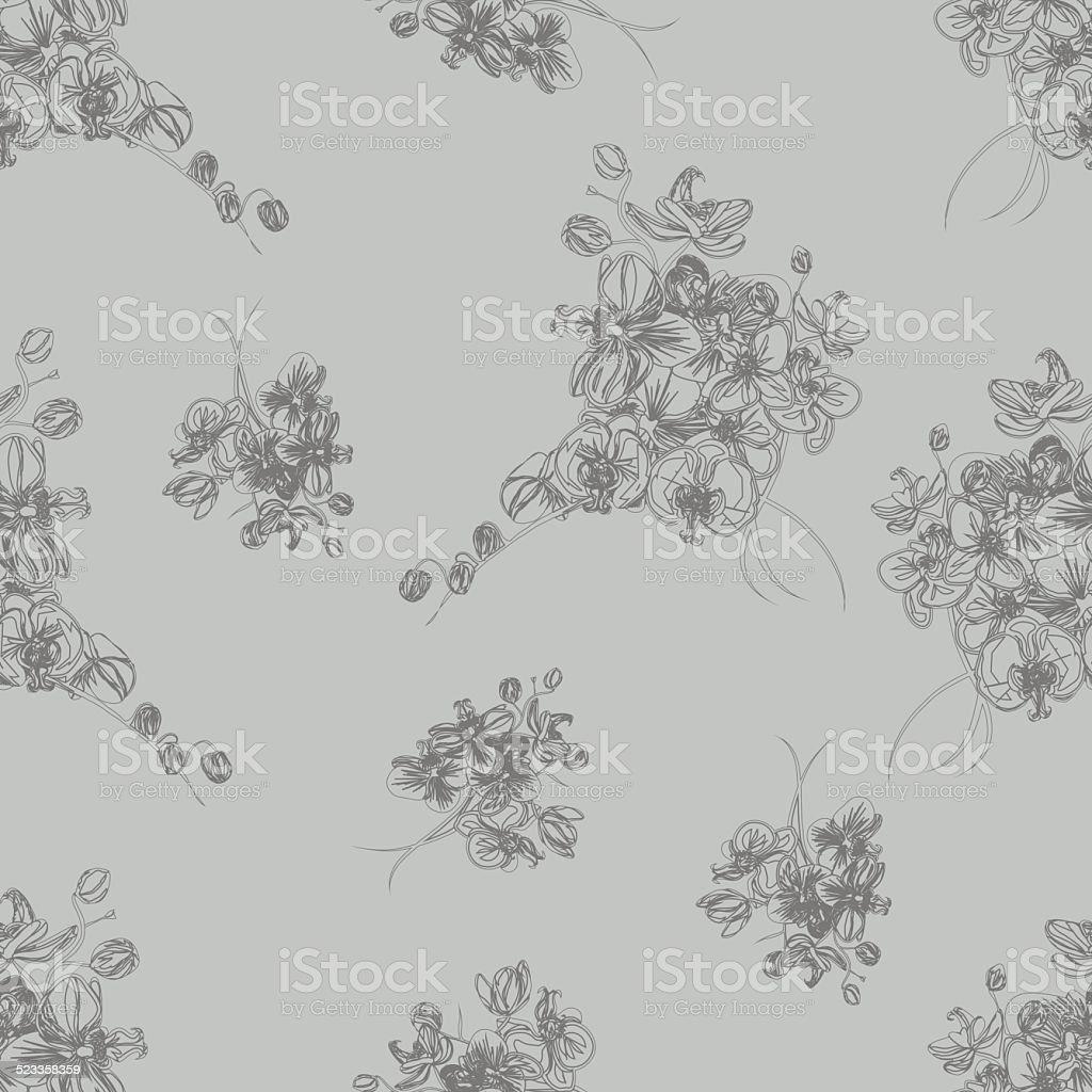 Tono Gris Francesa Vector Patrón Sin Costuras - Arte vectorial de ...