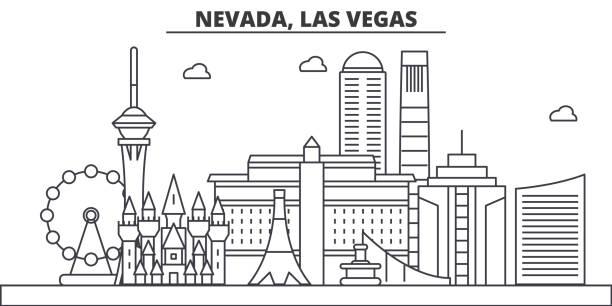 Best Las Vegas Skyline Illustrations, Royalty-Free Vector