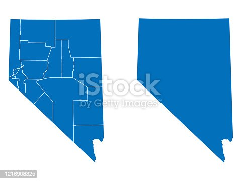 vector of Nevada map