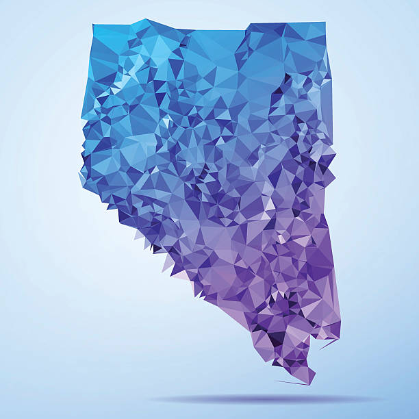 Nevada Polygon Triangle Map Blue Abstract Polygon Triangle vector map of Nevada, USA. File was created in DMesh Pro and Adobe Illustrator on July 10, 2015. The colors in the .eps-file are in RGB. Transparencies used. Included files are EPS (v10) and Hi-Res JPG (5035 x 5035 px). map crystal stock illustrations