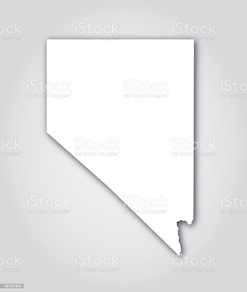 Nevada Silhouette White Stock Illustration - Download Image Now