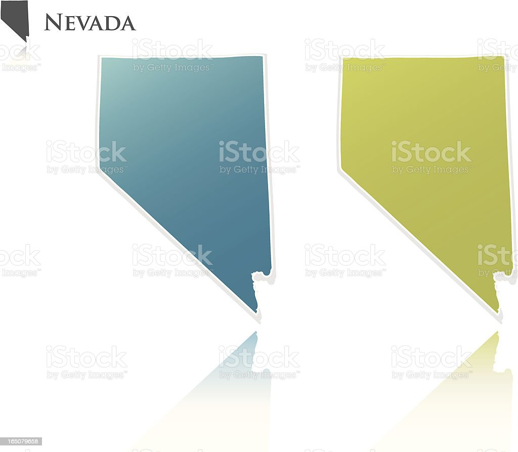 Nevada State Graphic royalty-free stock vector art