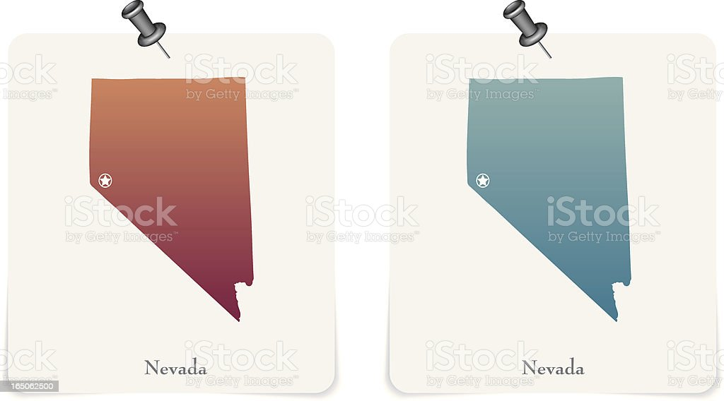 Nevada state red and blue cards royalty-free stock vector art