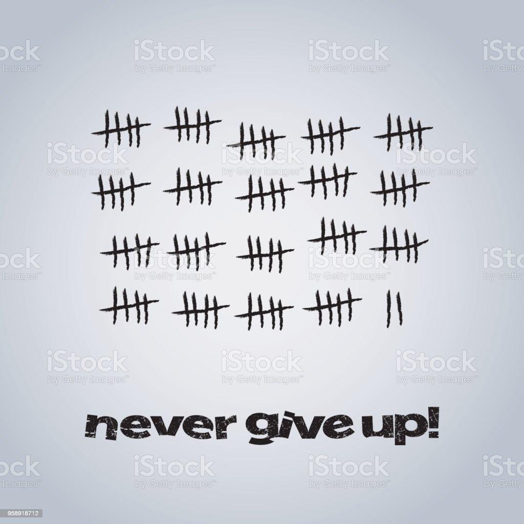 Never Give Up - Konzeption – Vektorgrafik
