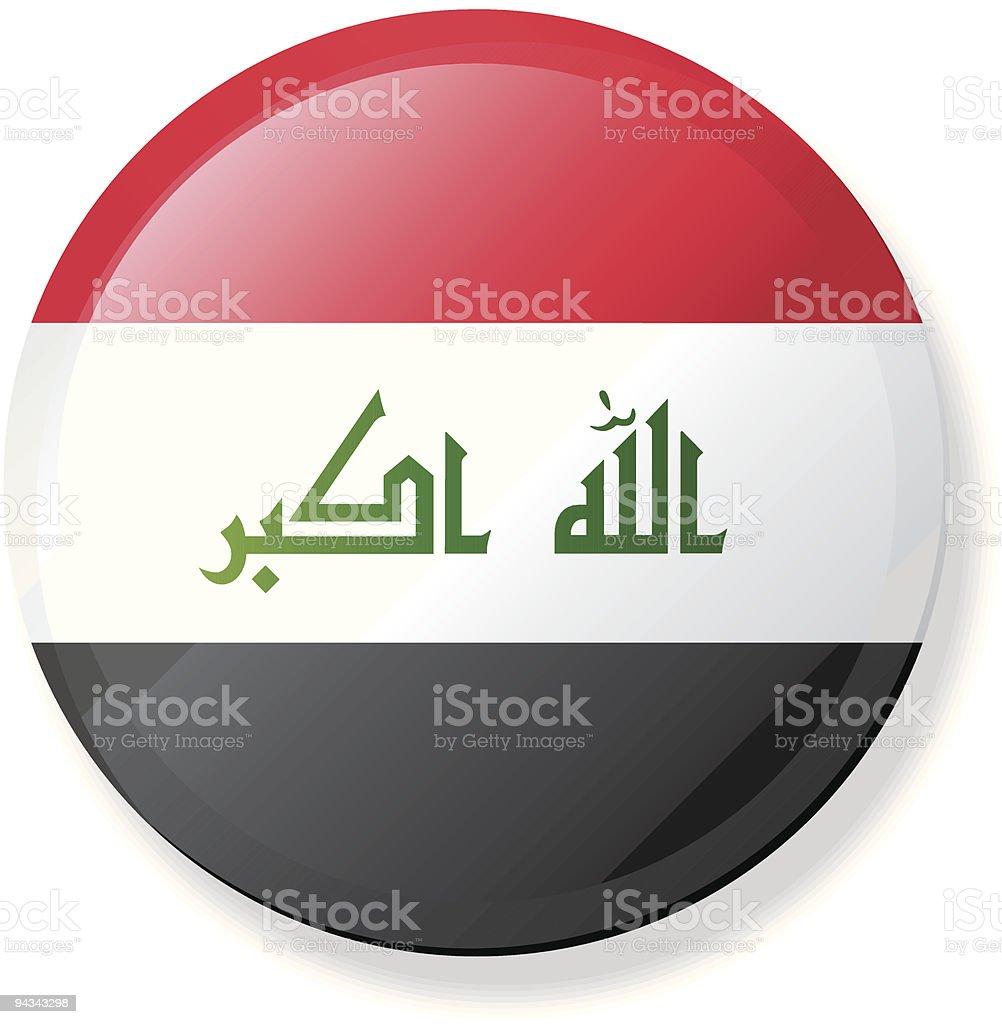 New 2008 Iraq -  Flag Lapel Button vector art illustration