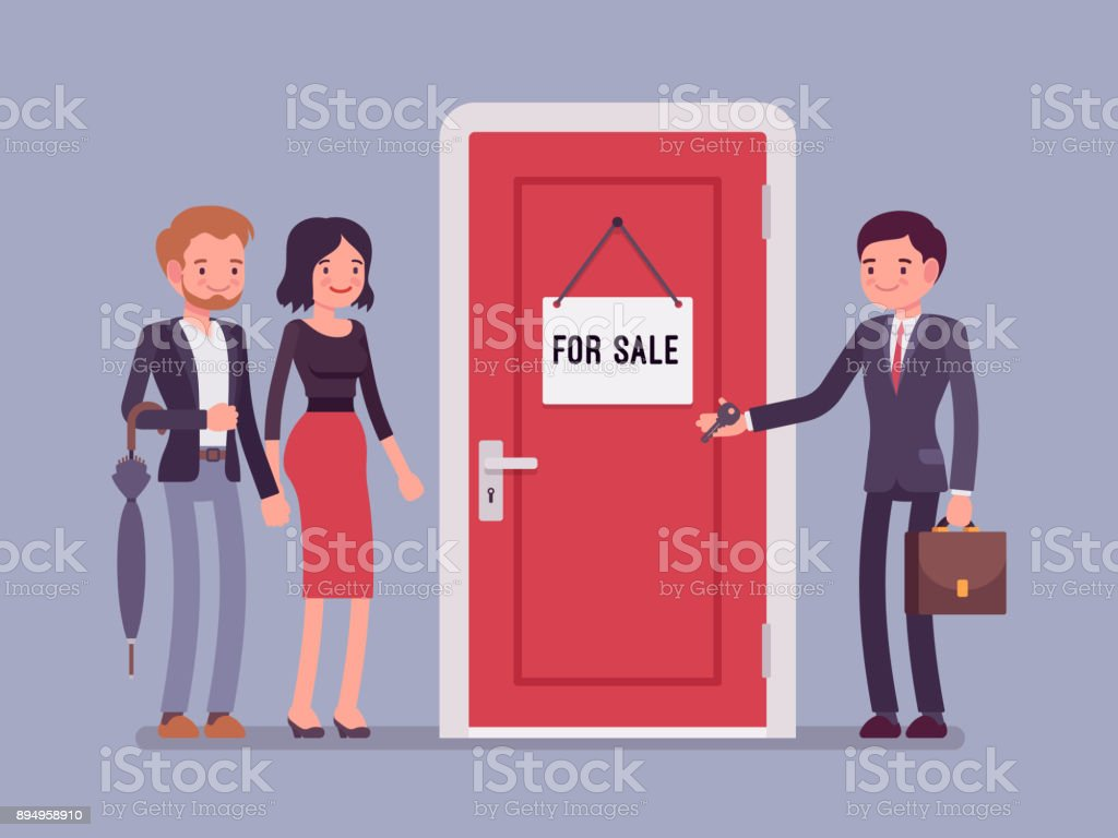 Neue Wohnung zu verkaufen – Vektorgrafik