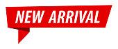 New Arrival - Banner, Speech Bubble, Label, Ribbon Template. Vector Stock Illustration