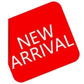 New Arrival Red Label Icon Vector Design