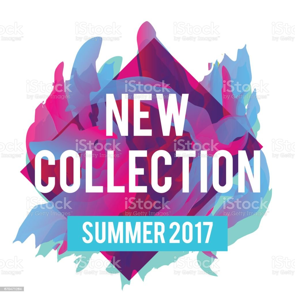 New arrivals and summer collection vector art illustration