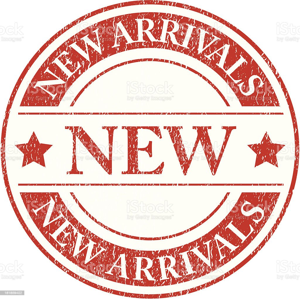 New arrivals grungy - VECTOR royalty-free stock vector art