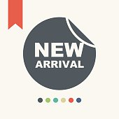 New arrivals sign icon,vector illustration.