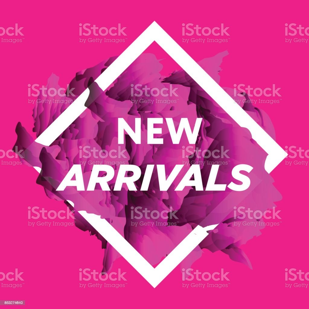 New arrivals vector art illustration