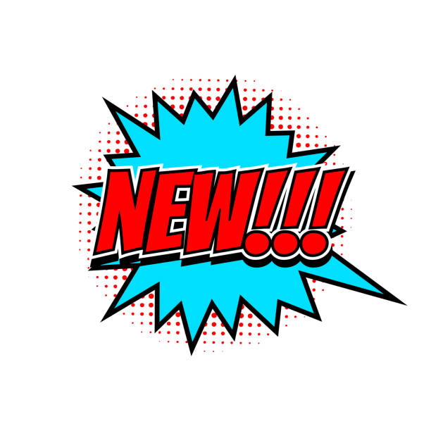 ilustrações de stock, clip art, desenhos animados e ícones de new banner, half tone style vector illustration - new