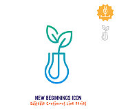 istock New Beginnings Continuous Line Editable Icon 1249618956