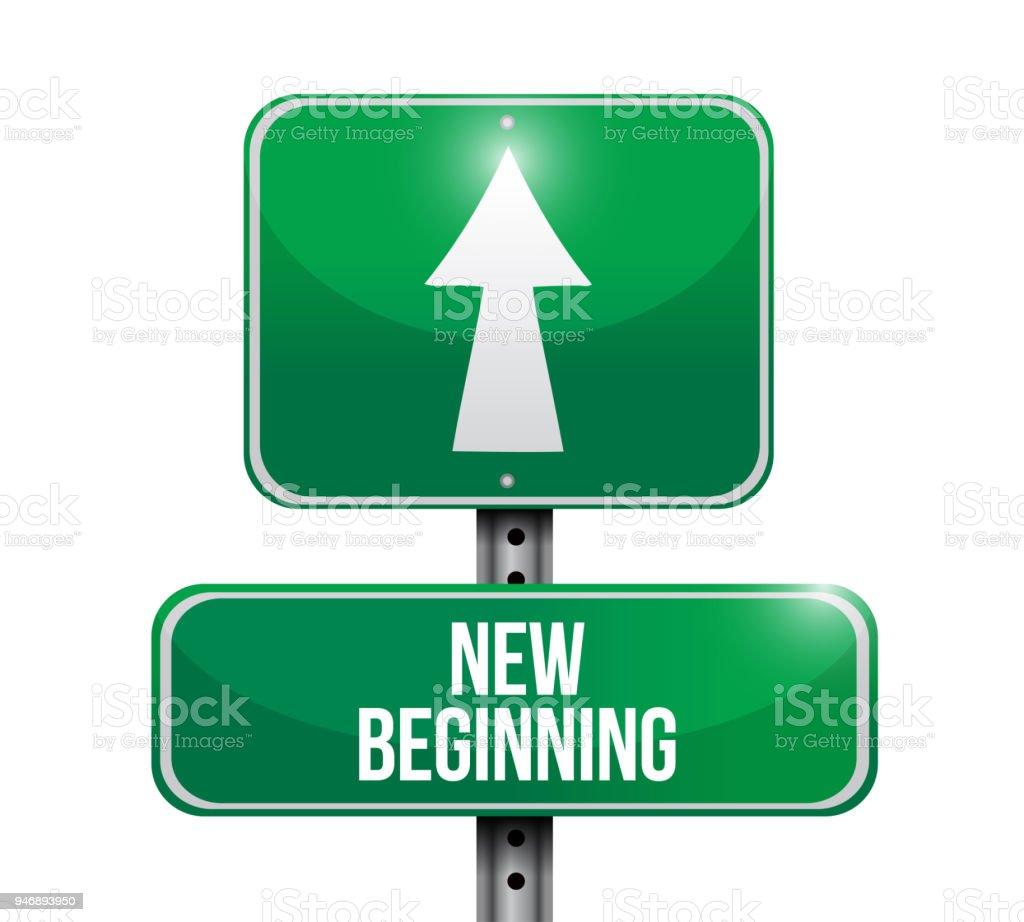 New Beginnings Sign Concept Illustrator Stock Vector Art More