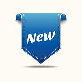 New  Blue Label Icon Vector Design