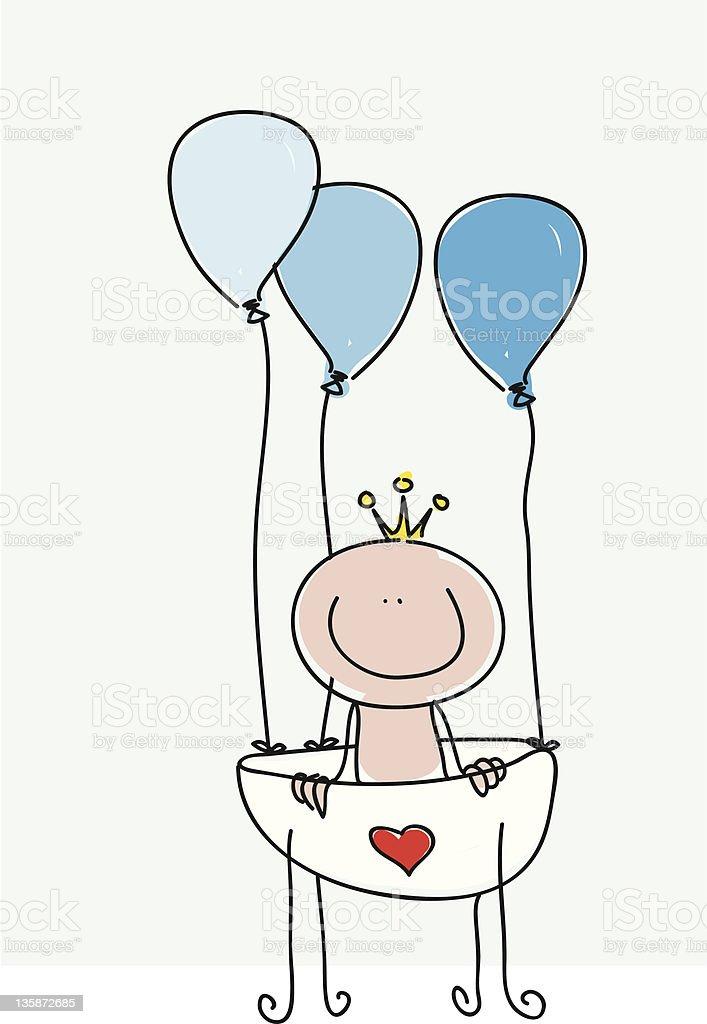 New born baby boy royalty-free stock vector art