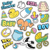 New Born Baby Stickers, Patches, Badges Scrapbook