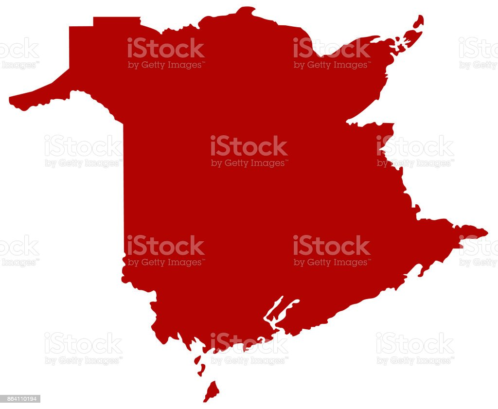 New Brunswick map royalty-free new brunswick map stock vector art & more images of canada