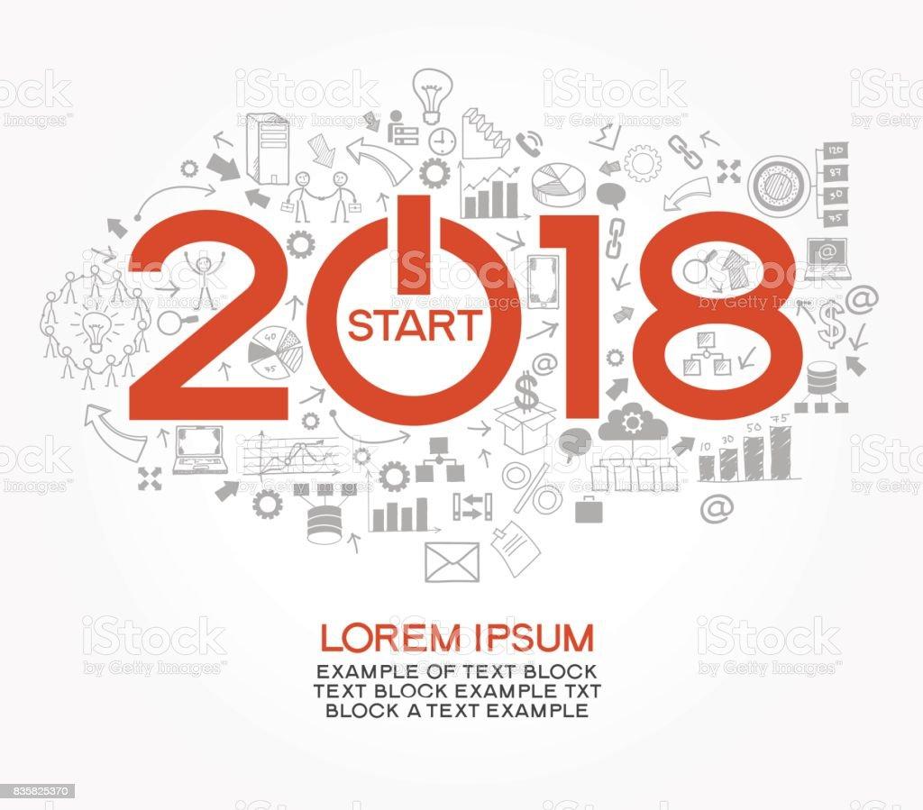2018 新しいビジネスの成功戦略 ベクターアートイラスト