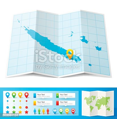 istock New Caledonia Map with location pins isolated on white Background 503564134