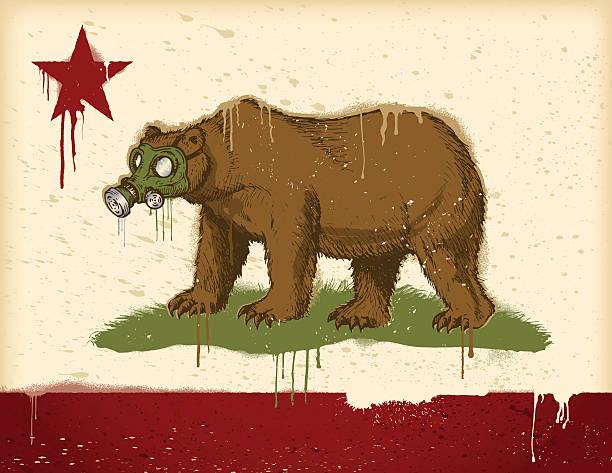 New California Flag vector art illustration