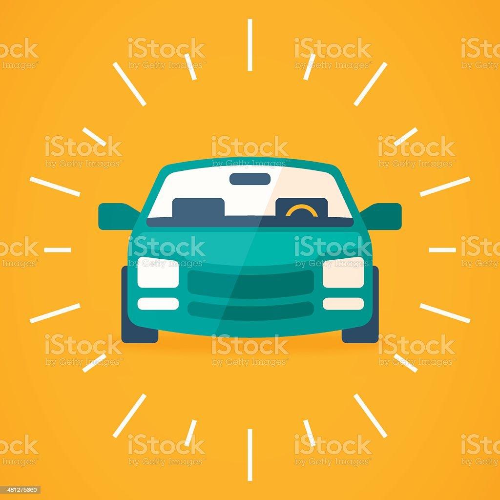 New Car vector art illustration