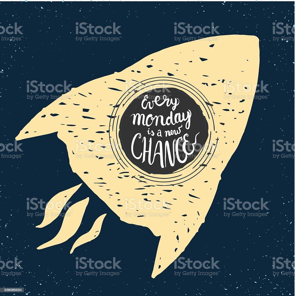 new chance rocket vector art illustration
