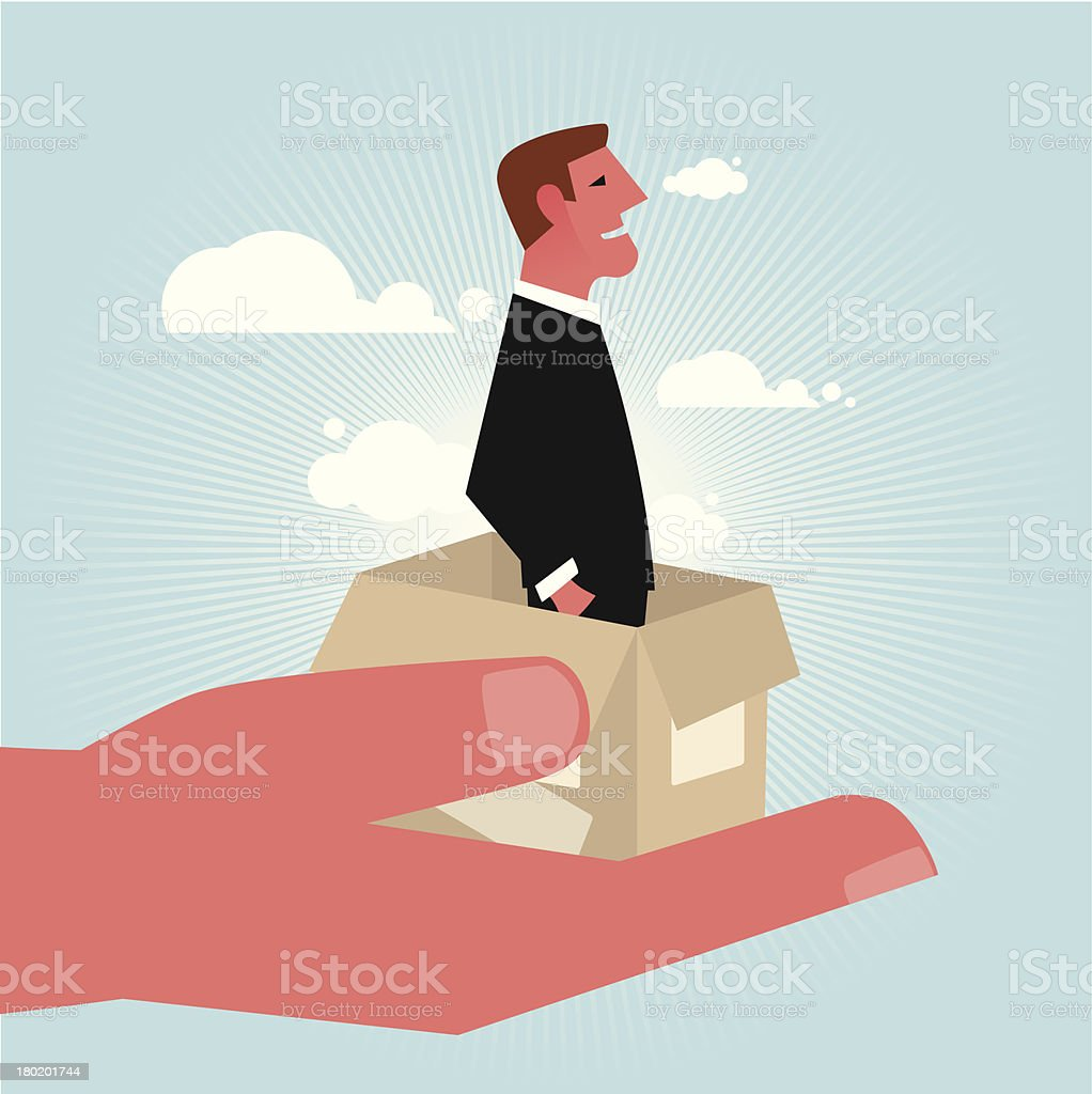 New colleague arriving royalty-free stock vector art