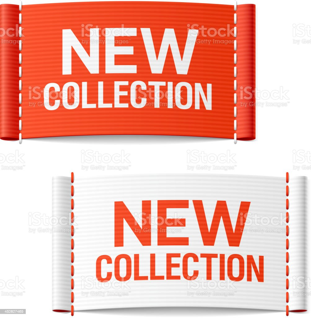 New collection clothing labels vector art illustration