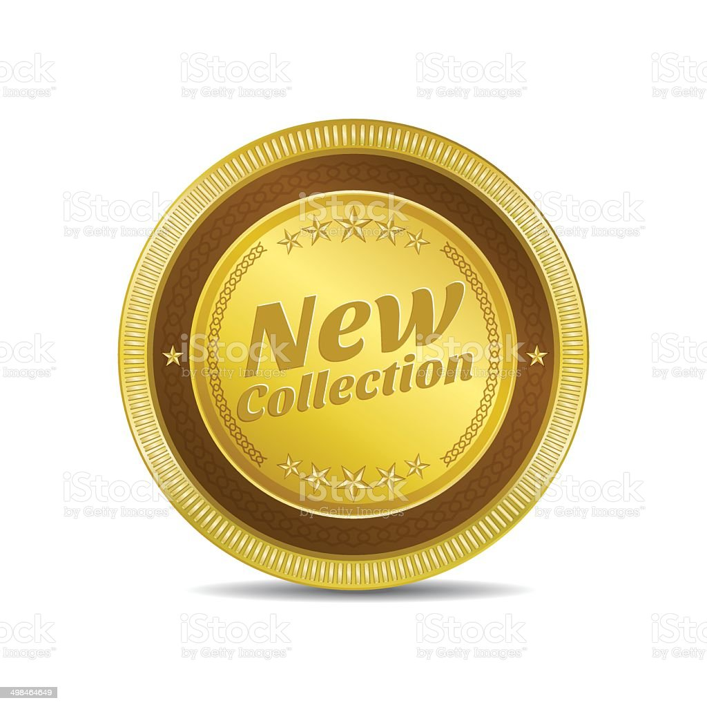 New Collection Glossy Shiny Circular Vector Button royalty-free stock vector art