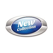 New Collection Glossy Shiny Elliptical Vector Button