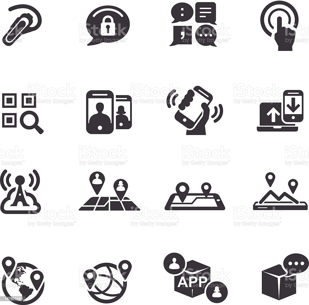 New Communication and Location-Icons-Acme Series vector art illustration