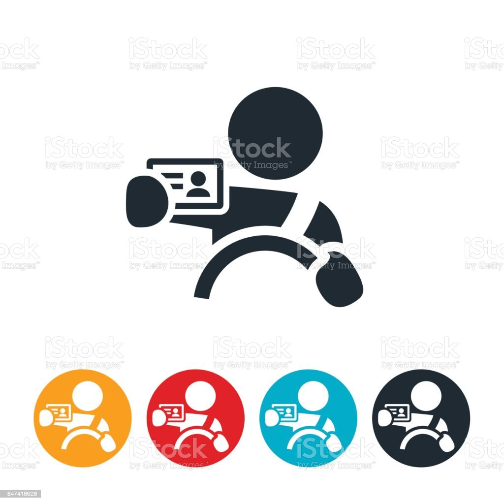 New Driver Icon vector art illustration