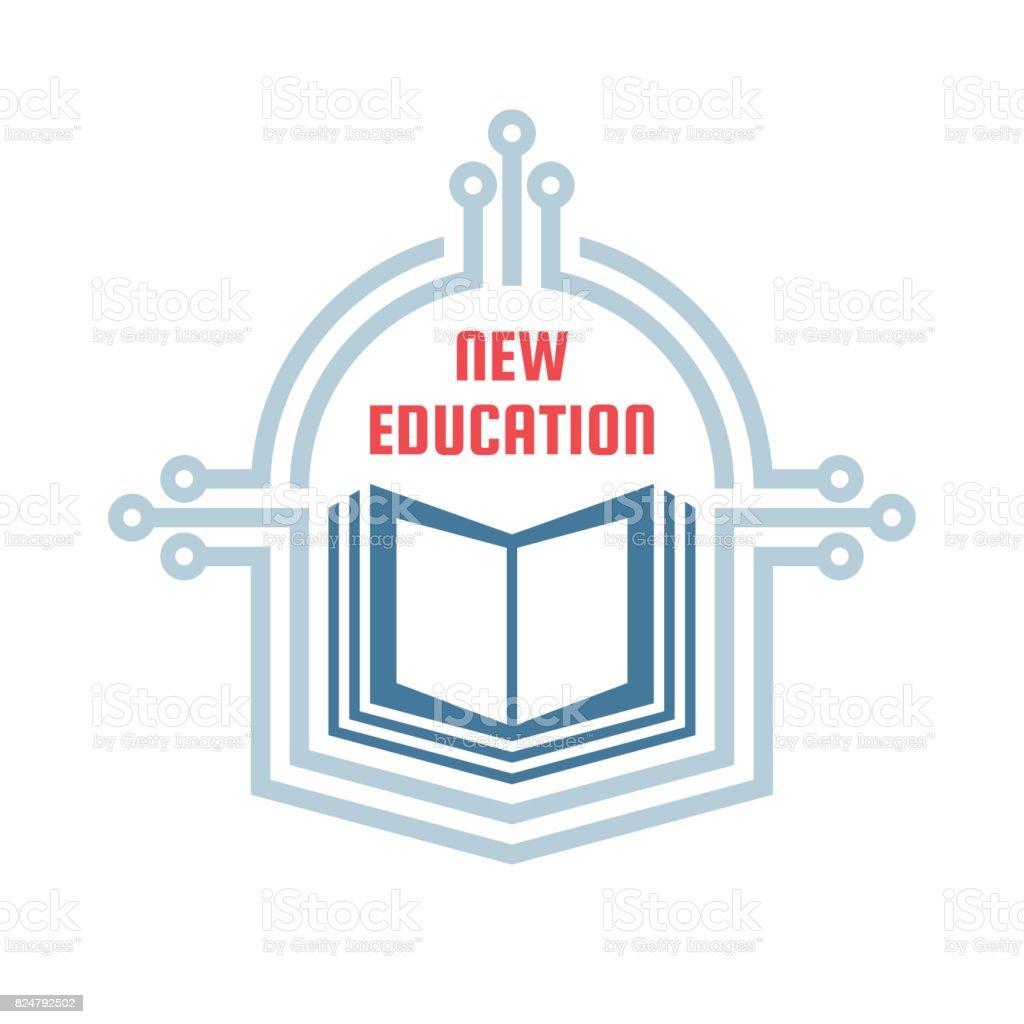 Nueva Educación Vector Icono Plantilla Concepto Ilustración Signo ...