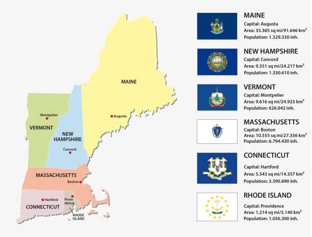 Royalty Free Northeast Usa Map Clip Art, Vector Images ...