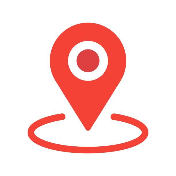 yeni düz tasarım konumu harita simgesi, gps işaretçi işaretlemek vektör eps 10 - google stock illustrations