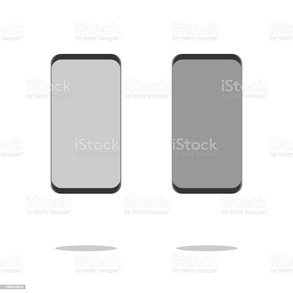 New Generation Smart Phone vector illustration isolated on white background. vector art illustration