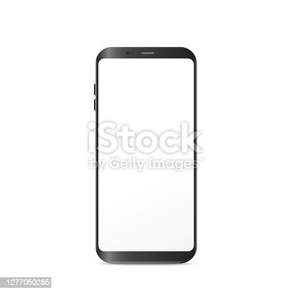 istock New Generation Smart Phone vector illustration isolated on white background. 1277050285