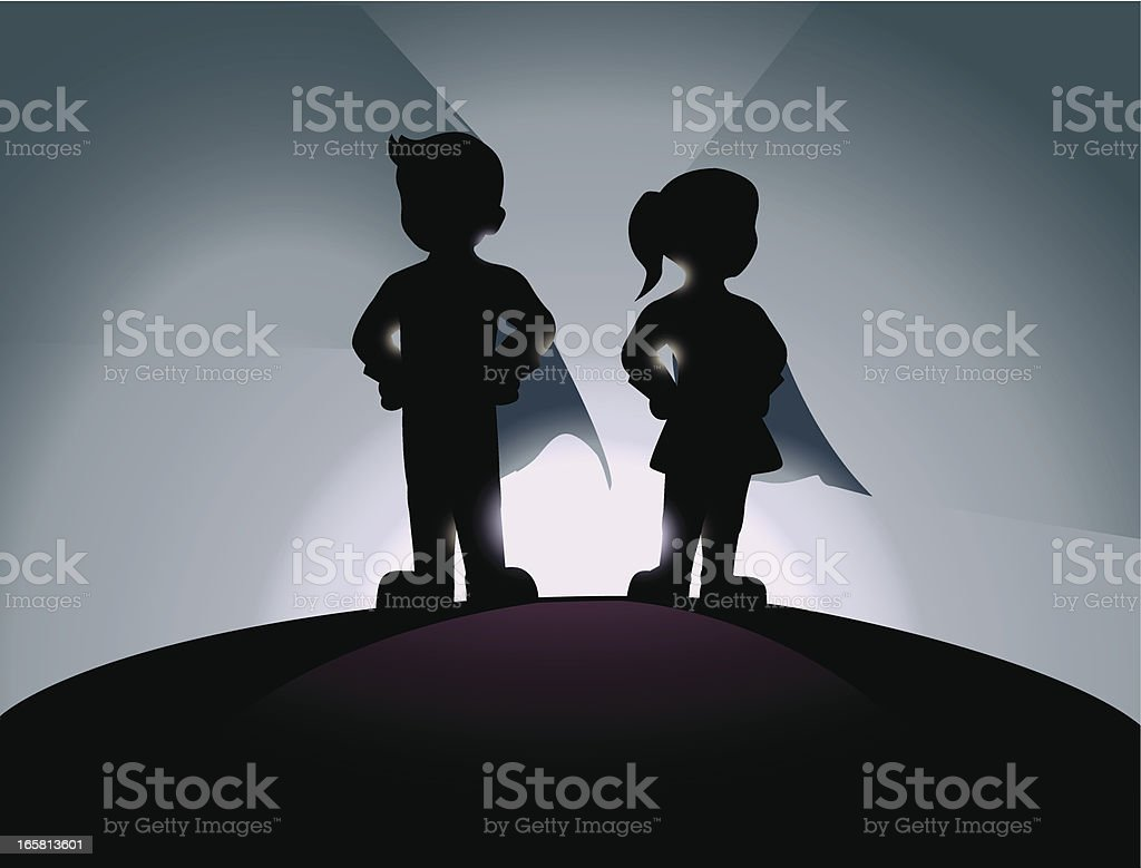 New Generation Superheroes royalty-free stock vector art