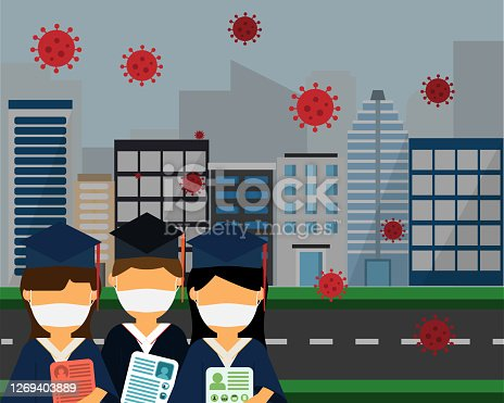 istock new grad need job during covid-19 vector 1269403889