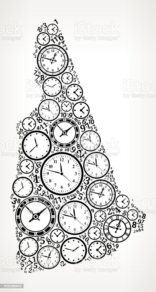 New Hampshire On Time And Clock Vector Icon Pattern Vektor ...