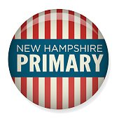 Retro or Vintage Style New Hampshire Primary  Campaign Election Pin Button or Badge