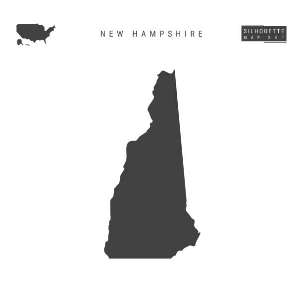 New Hampshire US State Vector Map Isolated on White Background. High-Detailed Black Silhouette Map of New Hampshire New Hampshire US State Blank Vector Map Isolated on White Background. High-Detailed Black Silhouette Map of New Hampshire. new hampshire stock illustrations